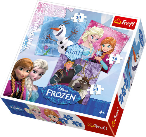 Frozen Puzzle 3 in 1